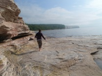 Pictured Rocks National Shoreline backpacking, mosquito beach campsite