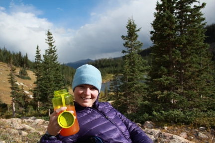 Comanche Peaks Wilderness backpacking, camping mixed drink, comanche peaks browns lake