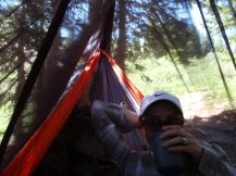 backpacking Conundrum Hotsprings, tea in the hammock, backpacking comfortably