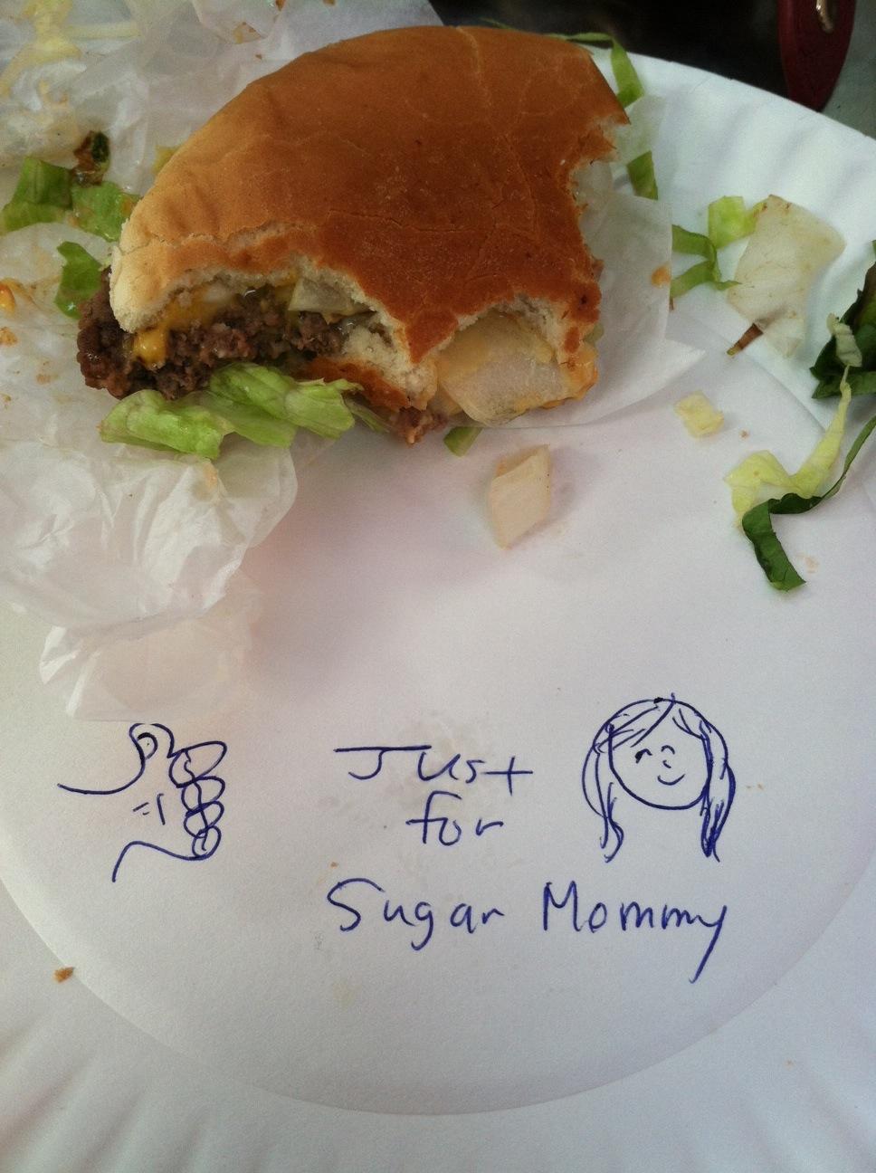 Irv's Burgers Hollywood, Los Angeles sugar momma