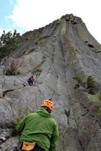 rock climbing, Wyoming, belay