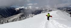 Taos Ski Valley snowboarding, Taos highline trail, Taos Kachina Peak, Taos Juarez