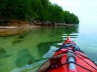 Michigan kayak camping, Lake Superior kayak camping, kayak in the rain, Michigan in the spring, grand island