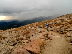 Rocky Mountain National Park storm, Flat Top Mountain storm, RMNP day hike, time to turn around