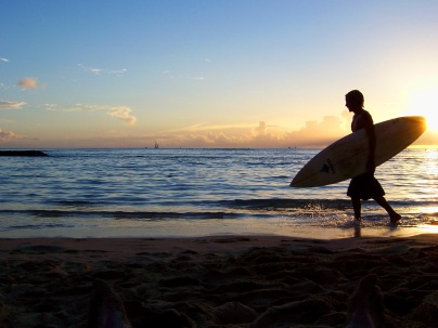 Waikiki beach at sunset, Waikiki sunset Waikiki sunset surf
