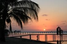 Roatan sunset, roatan piers, roatan beautiful beach