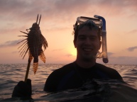 Roatan spearfishing, roatan spearfishing at sunset, roatan snorkeling, roatan lionfish, roatan invasive species
