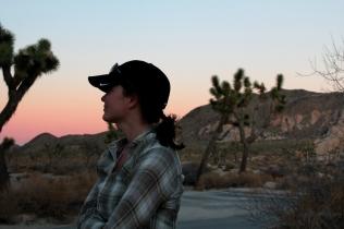 Joshua Tree car camping, joshua tree sunset