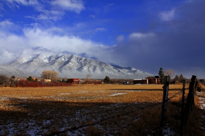 New Mexico sunset, Taos ranch, Taos afternoon