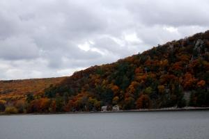 leaves, autumn, rock climbing