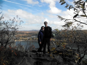 rock climbing, Devil's Lake, Wisconsin, fall, hike