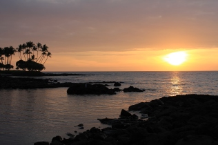 hawaiian sunset, big island sunset