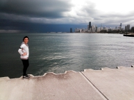 Chicago skyline, Chicago storm