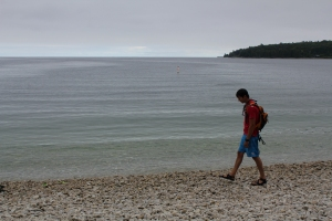 Washington Island, Door County, WI, pebble beach