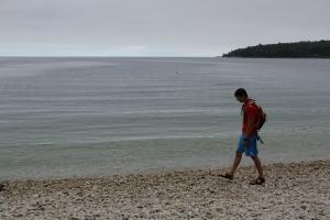 Washington Island, Door County, WI, pebble beach