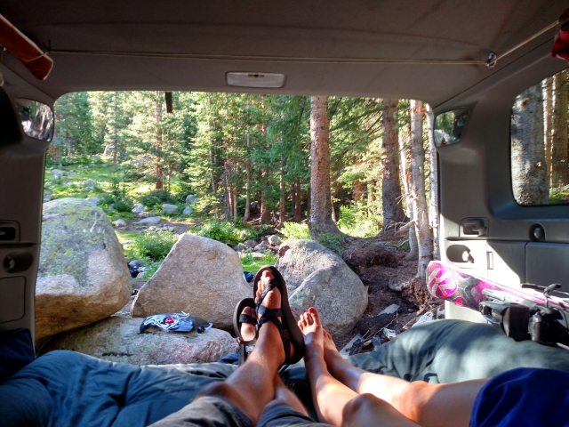 4-runner camping, car camping, SUV rv, arapaho national forest