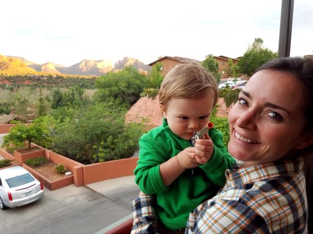 capgun, sedona, az, patio, cowboy, sunset