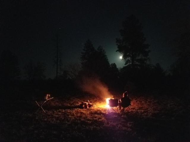 grandcanyon, az, arizona, arizonacamping, camping, campfire, fullmoon, moon, carcamping, backcountry