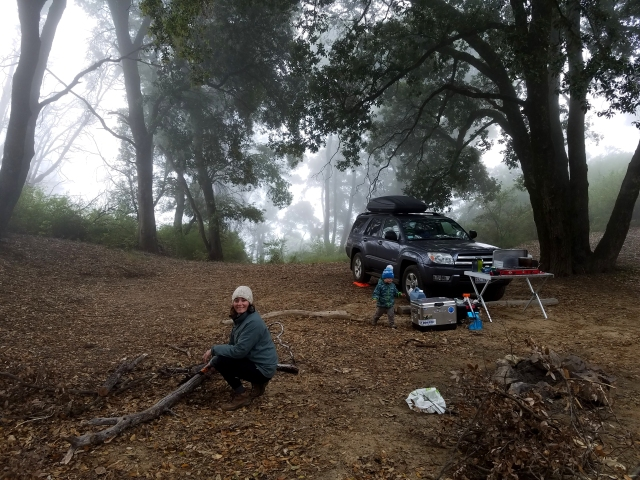 epicroadtrip, bigsur, ca, california, nacemiento, foggy, mountains, mountainroad, bigsurcamping, campsite, 4runner camper, 4runnercamperconversion, toyota, campingwithkids, carcamping