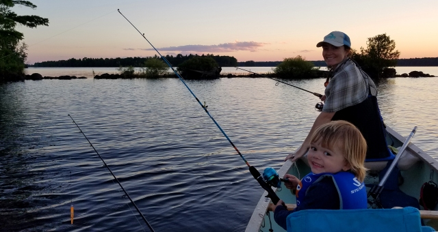 Flambea flowage fishing, flambeau flowage camping, camping with kids, old town canoes, canoe camping, camping