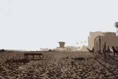 ventura california, sunset, beach sunset, california sunset, epic road trip, stylized