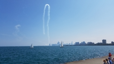 Chicago lakefront, chicago il, air and water, chicago air and water, montrose harbor, blue angels