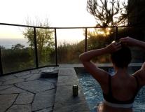 carmel higlands, carmel by the sea, hyatt monterey, monterey, monterey bay, hot tub sunset, fit girl, fit mom