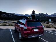 mountain sunset, road sunset, brainard lake, 4 runner, toyota, 4runner