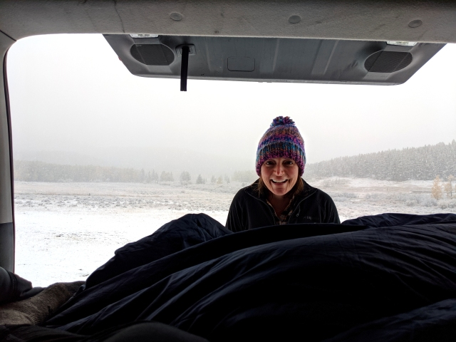 fall snow, camping in the snow, winter camping, snow storm, 4runner camping, 4runner camper